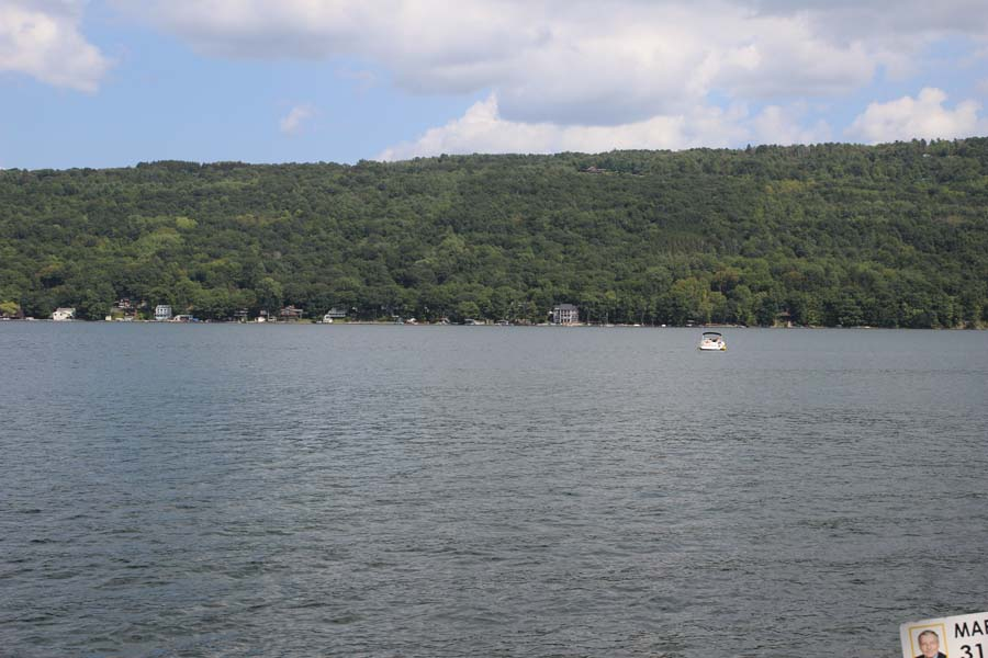 Looking across Keuka Lake from Summer Ice Cottage