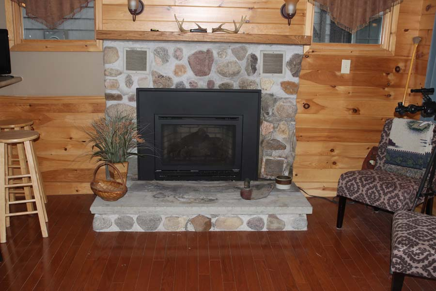 Gas fireplace for chilly fall nights