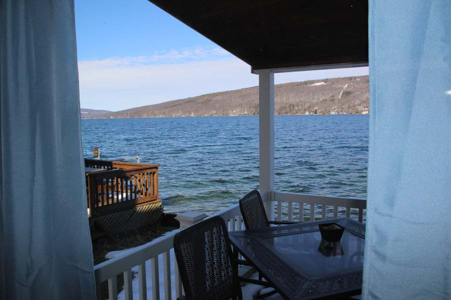 View across Keuka Lake from Summer Ice Cottage